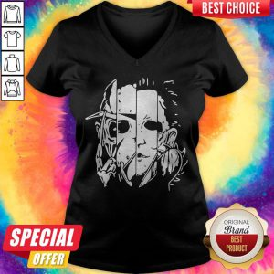 Freddy Jason Michael Thomas Shirt Horror Shirt Halloween V-neck