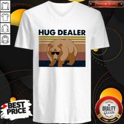 Funny Bear Hug Dealer Vintage V-neck