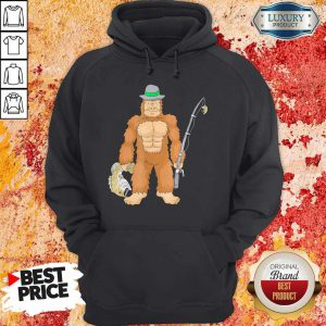 Funny Bigfoot Fishing Hoodie