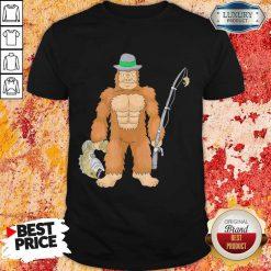 Funny Bigfoot Fishing Shirt