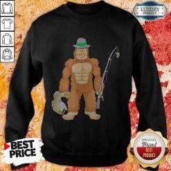 Funny Bigfoot Fishing Sweatshirt