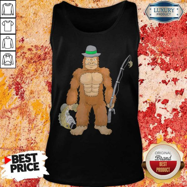 Funny Bigfoot Fishing Tank Top