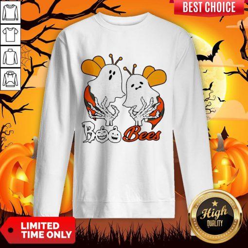Funny Boo Bees Boob Halloween Sweatshirt