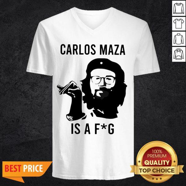 Funny Carlos Maza Is A Fag V-neck