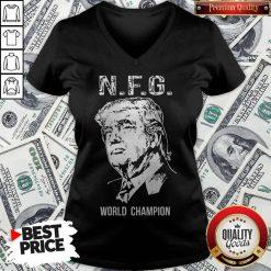 Funny Donald Trump NFG World Champion V-neck