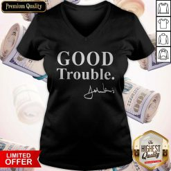 Funny Good Necessary Trouble V-neck