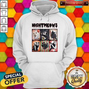 Funny Horror Movie Character Nightmeows Hoodie