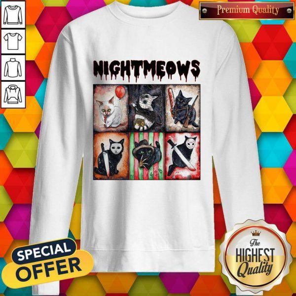 Funny Horror Movie Character Nightmeows Sweatshirt