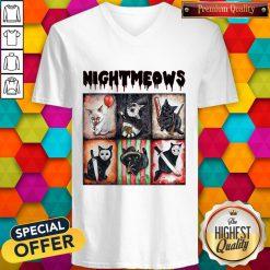 Funny Horror Movie Character Nightmeows V-neck