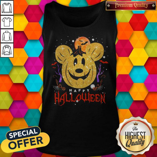 Funny Mickey Mouse Happy Halloween Tank Top