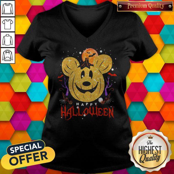 Funny Mickey Mouse Happy Halloween V-neck