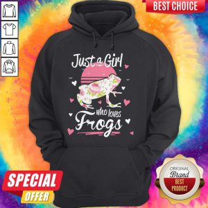 Funny Official Just A Girl Who Loves Frogs Hoodie