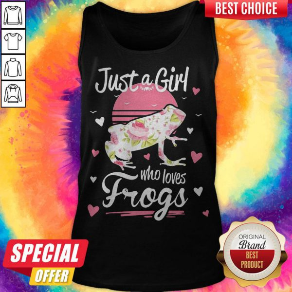 Funny Official Just A Girl Who Loves Frogs Tank Top