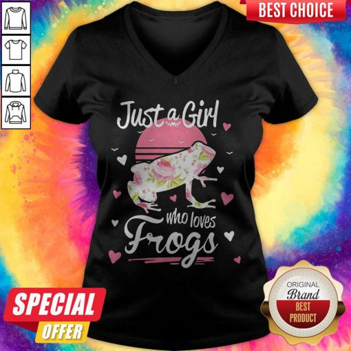 Funny Official Just A Girl Who Loves Frogs V-neck