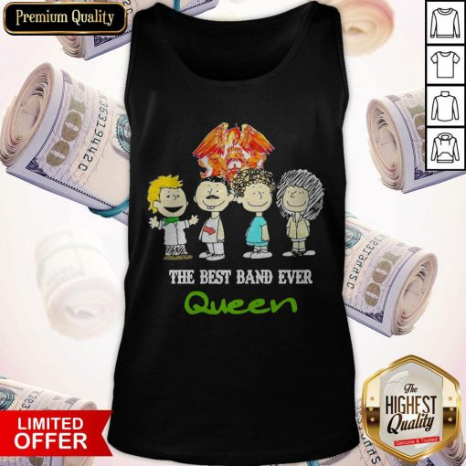 Funny Official Queen Crest Band Tank Top