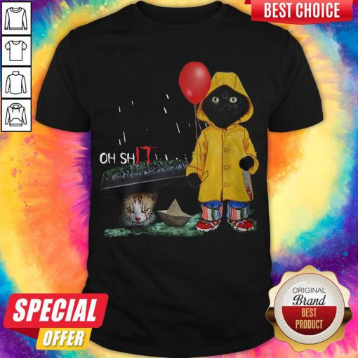 Funny Oh Shit Cat PennywIse It Shirt