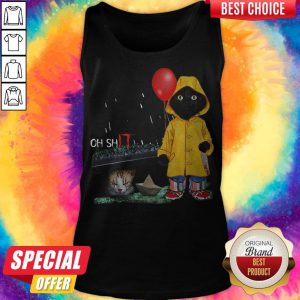 Funny Oh Shit Cat PennywIse It Tank TopFunny Oh Shit Cat PennywIse It Tank Top