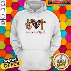 Funny Peace Love Faith Diamond Hoodie