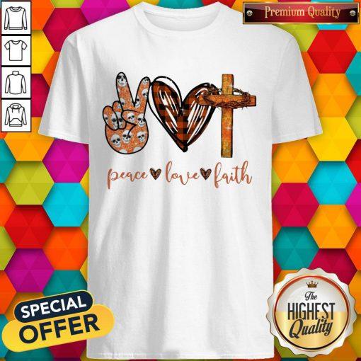 Funny Peace Love Faith Diamond Shirt