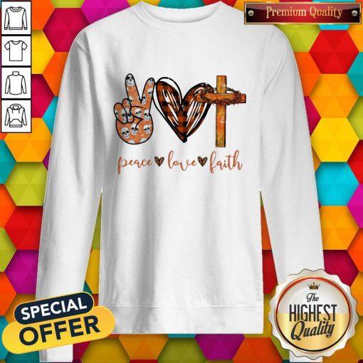 Funny Peace Love Faith Diamond Sweatshirt