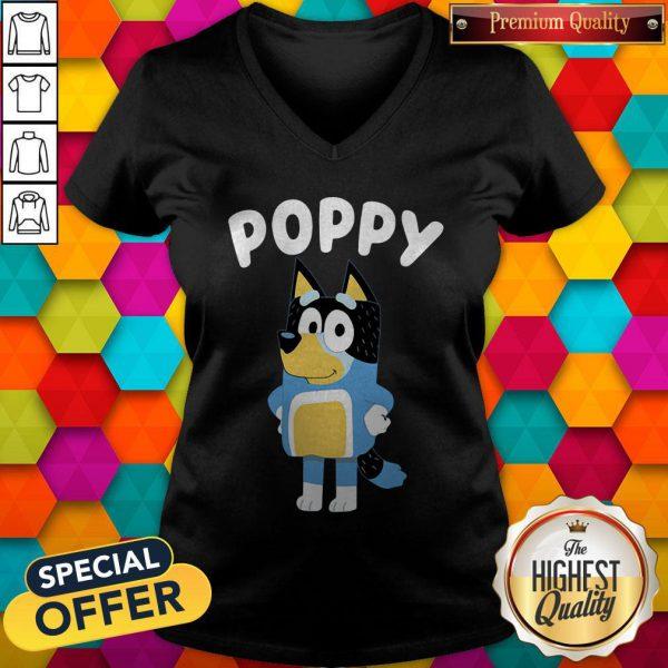 Funny Poppy Bluey V-neck