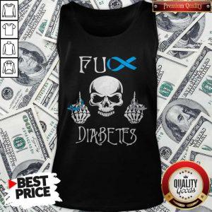 Funny Skull Fuck Diabetes Tank Top