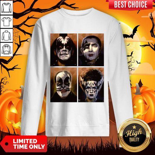 Kiss Of Terror Horror Movies Characters Sweatshirt