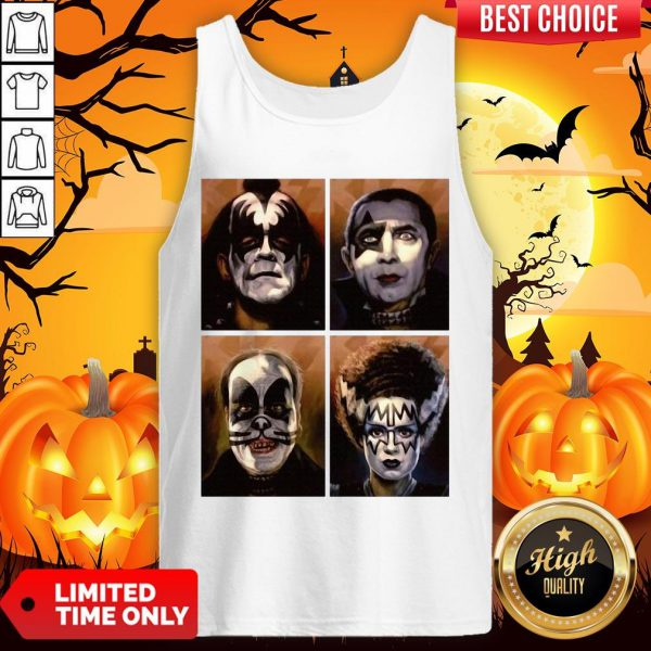 Kiss Of Terror Horror Movies Characters Tank Top