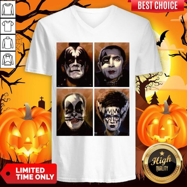 Kiss Of Terror Horror Movies Characters V-neck