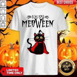 Magician Cat Happy Meoween Halloween Shirt