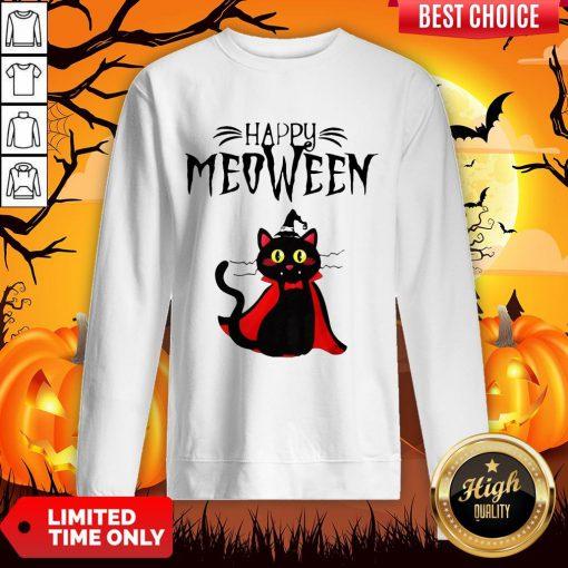Magician Cat Happy Meoween Halloween Sweatshirt