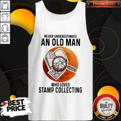 Never Underestimate An Old Man Who Loves Stamp Collecting Tank Top