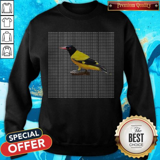 Nice All Of The Birds Died In 1986 Sweatshirt