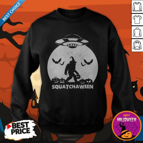 Nice Bigfoot Squatchaween Sweatshirt