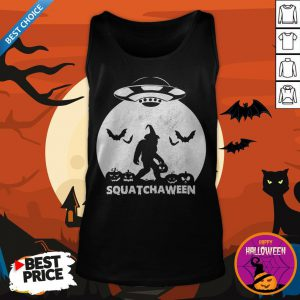 Nice Bigfoot Squatchaween Tank Top