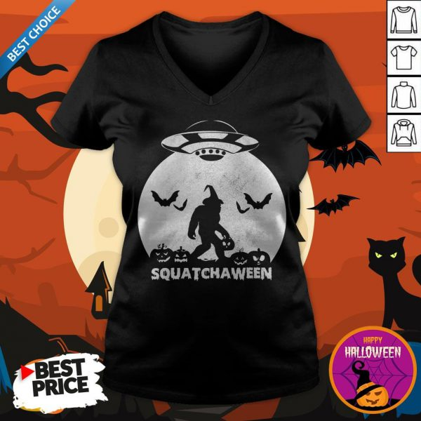 Nice Bigfoot Squatchaween V-neck