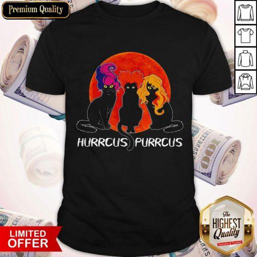 Nice Cats Hurrcus Purrcus Blood Moon Shirt