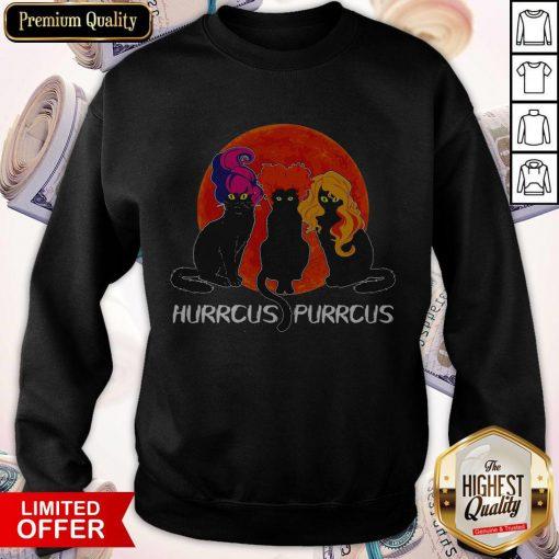 Nice Cats Hurrcus Purrcus Blood Moon Sweatshirt