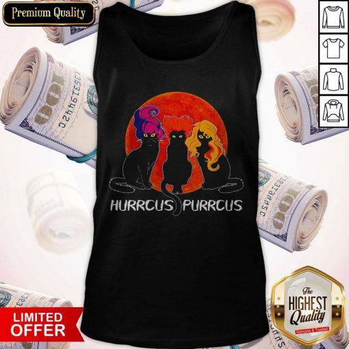 Nice Cats Hurrcus Purrcus Blood Moon Tank Top