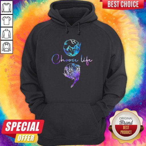 Nice Choose Life Color Hoodie