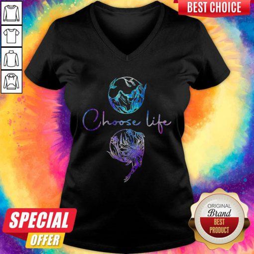 Nice Choose Life Color V-neck