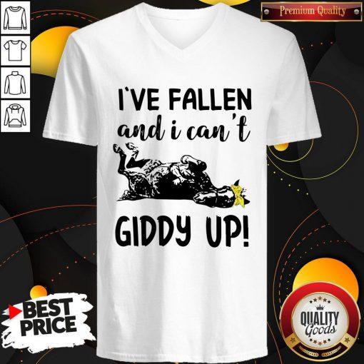 Nice I've Fallen And I Can't Giddy Up V-neck