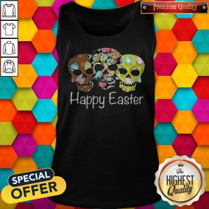 Nice Skull Happy Easter Tank Top