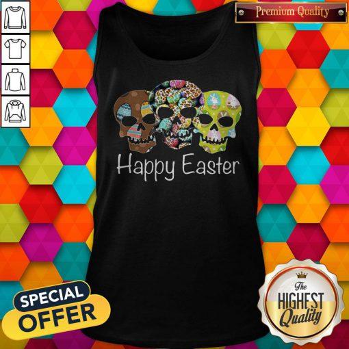 Nice Skull Happy Easter Tank Top