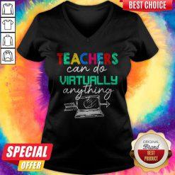 Nice Teachers Can Do Virtually Anything V-neck