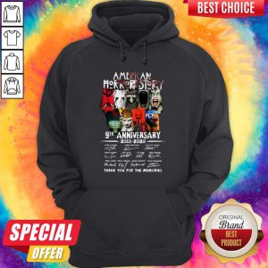 Official American Horror Story 9th Anniversary 2011 2020 Thank You For The Memories Signatures Hoodie