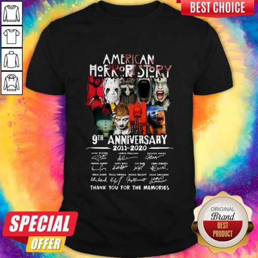 Official American Horror Story 9th Anniversary 2011 2020 Thank You For The Memories Signatures Shirt
