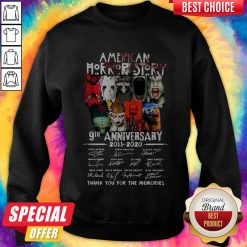 Official American Horror Story 9th Anniversary 2011 2020 Thank You For The Memories Signatures Sweatshirt