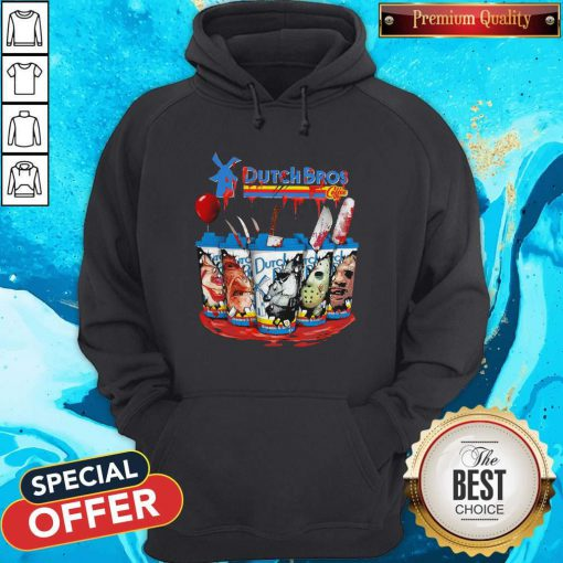 Official Dutch Bros Coffee Face Horror Character Hoodie