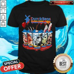 Official Dutch Bros Coffee Face Horror Character Shirt